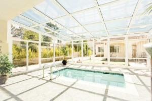 Glendale, CA Swimming Pool Sunroom Enclosure