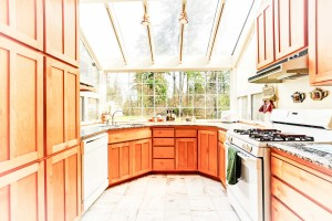 Malibu, CA sunroom interior kitchen